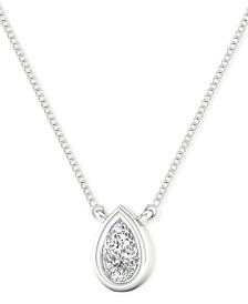"Diamond Teardrop 18"" Pendant Necklace (1/10 ct. t.w.)"