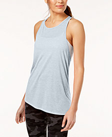 Calvin Klein Performance Crossover-Back Asymmetrical Tank Top