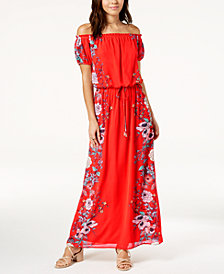 City Studios Juniors' Off-The-Shoulder Maxi Dress
