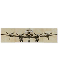 Intelligent Design Flight Time 3-Pc. Gel-Coated Canvas Print Set