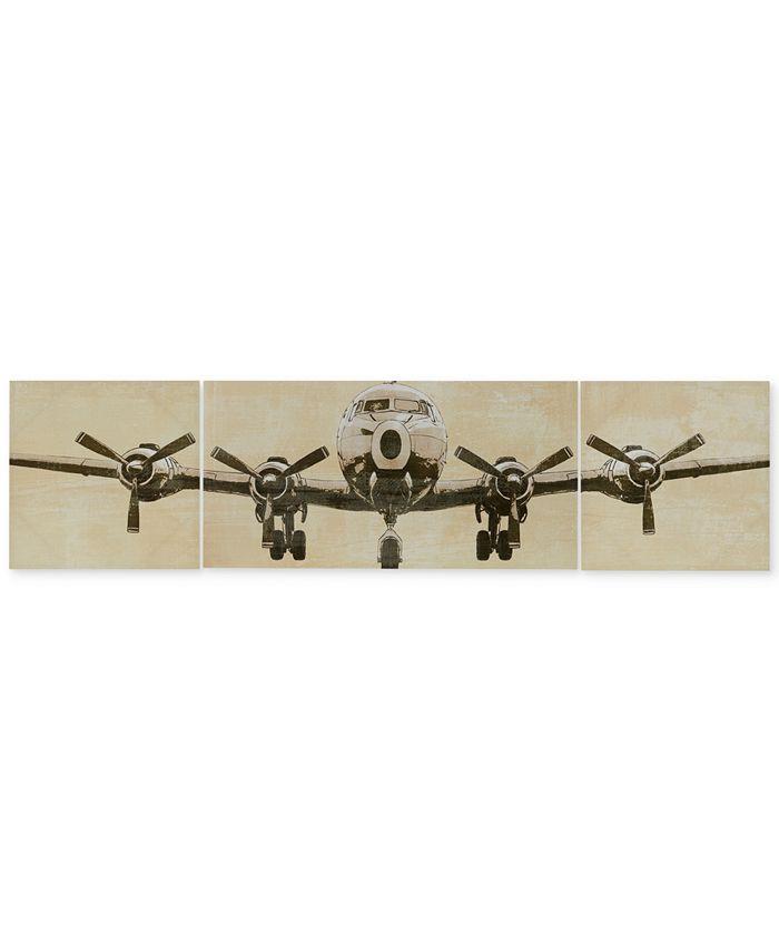 JLA Home - Flight Time 3-Pc. Gel-Coated Canvas Print Set