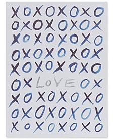 Intelligent Design XO Love Canvas Print with Silver-Tone Foil