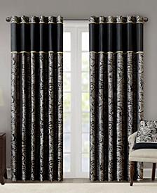 "Aubrey Paisley 50"" x 84"" Faux Silk Curtain Set"