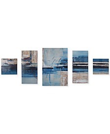 Madison Park Overseas 5-Pc. Gel-Coated Canvas Print Set