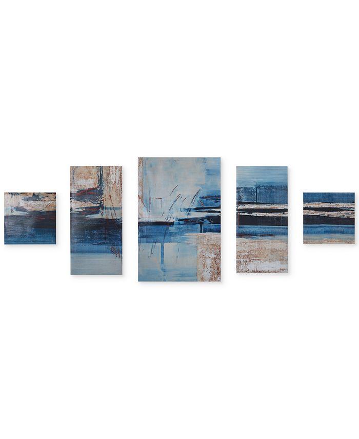 JLA Home - Overseas 5-Pc. Gel-Coated Canvas Print Set