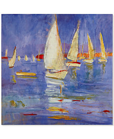 Madison Park Signature Sailing in Color Hand-Embellished Canvas Print