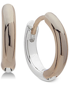 Lauren Ralph Lauren Two-Tone Huggie Hoop Earrings