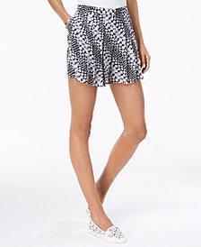MICHAEL Michael Kors Printed Pleated Shorts