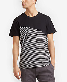 Kenneth Cole New York Men's Colorblocked Striped T-Shirt
