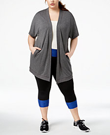 Ideology Plus Size Open-Front Wrap, Created for Macy's