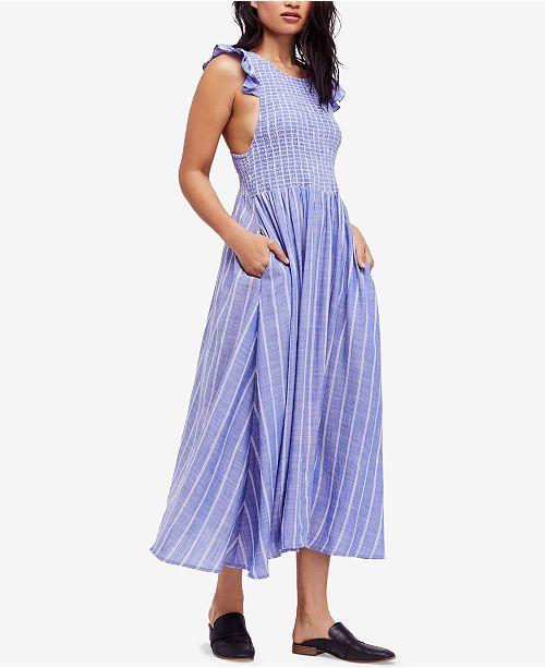 ec8e602f5679 Free People Chambray Butterflies Cotton Maxi Dress   Reviews ...