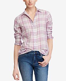 Lauren Ralph Lauren Petite Twill Cotton Shirt
