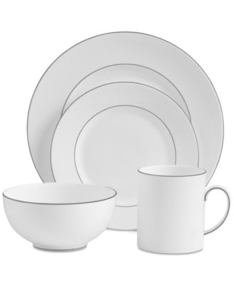 Dinnerware, Blanc Sur Blanc 4-Pc. Place Setting