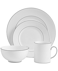 Dinnerware, Blanc Sur Blanc 4-Pc. Place Setting