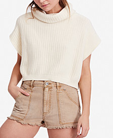 Free People Keep It Simple Cowl-Neck Sweater
