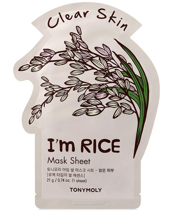 TONYMOLY - I'm Rice Sheet Mask - (Clear Skin)