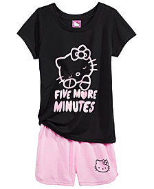 Hello Kitty 2-Pc. Pajama Set,  Little & Big Girls