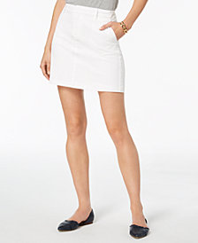 Tommy Hilfiger Twill Mini Skirt, Created for Macy's