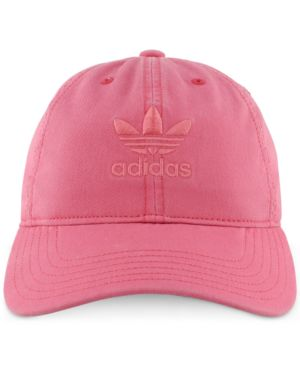 WOMEN'S ORIGINALS PRECURVED WASHED STRAPBACK HAT, PINK