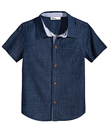 Epic Threads Chambray Cotton Shirt, Toddler Boys, Created for Macy's