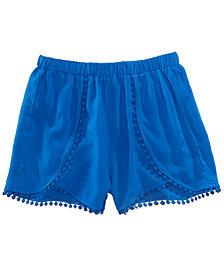 Epic Threads Pom Pom-Trim Shorts, Big Girls, Created for Macy's