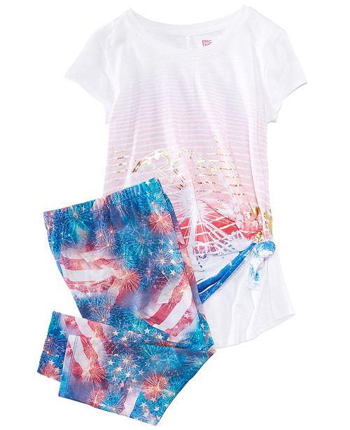 Graphic-Print T-Shirt & Capri Leggings, Big Girls, Created for Macy's