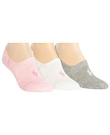 Polo Ralph Lauren Women's 3-Pk. Marled Sneaker Liner Socks