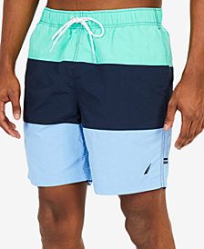 Nautica Men's Big & Tall Quick-Dry Colorblocked Swim Trunks