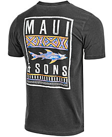 Maui and Sons Men's No Boundaries Logo-Print T-Shirt
