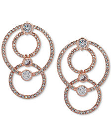 Anne Klein Crystal & Pavé Multi-Loop Drop Earrings