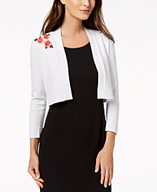Calvin Klein Embroidered Shrug