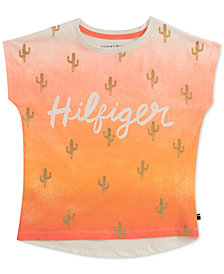 Tommy Hilfiger Cactus-Print Cotton T-Shirt, Big Girls