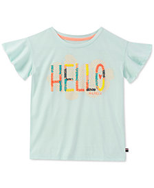 Tommy Hilfiger Graphic-Print Flutter Sleeve T-Shirt, Big Girls