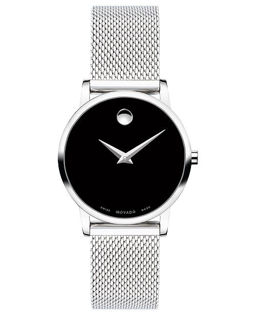 6a9827eb5 ... Movado Women's Swiss Museum Classic Stainless Steel Mesh Bracelet Watch  ...