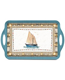 Pimpernel Coastal Breeze Large Melamine Handled Tray