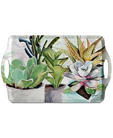 Pimpernel Succulents Large Melamine Handled Tray