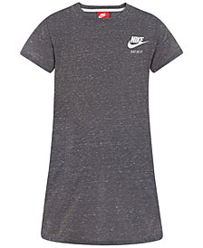 Nike Logo-Print T-Shirt Dress, Little Girls