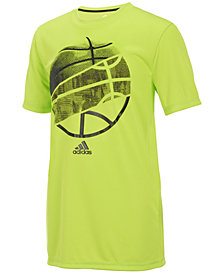 adidas Ball-Print T-Shirt, Big Boys
