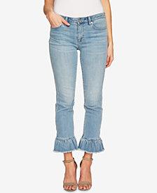 CeCe Ruffled Skinny Jeans