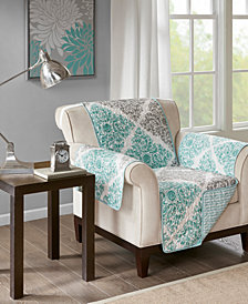 Madison Park Claire Reversible Printed Armchair Protector