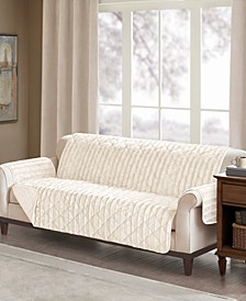 Duke Reversible Diamond-Quilted Faux-Fur Furniture Protectors