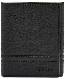 Fossil Men's Wilder Leather Tri-Fold Wallet