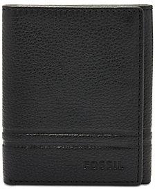 Fossil Men's Wilder Leather Tri-Fold Wallet