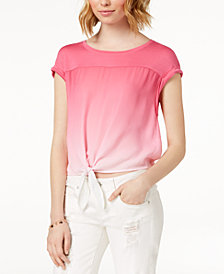 Hippie Rose Juniors' Tie-Dyed Top