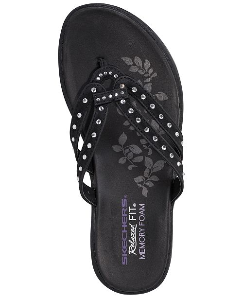 a64e62ce31a ... Skechers Women s Relaxed Fit  Upgrades - Be Jeweled Flip-Flop Thong  Sandals from Finish ...