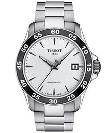 Tissot Men's Swiss Automatic T-Sport V8 Gray Stainless Steel Bracelet Watch 42.5mm