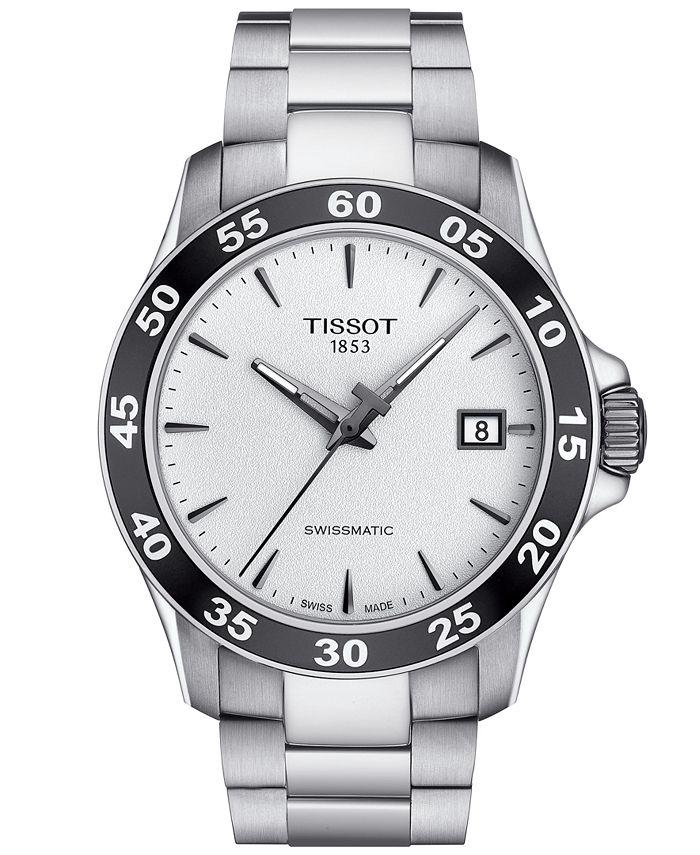 Tissot - Men's Swiss Automatic T-Sport V8 Gray Stainless Steel Bracelet Watch 42.5mm