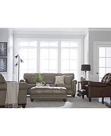 Martha Stewart Collection Bradyn Leather Sofa Collection, Created For Macyu0027s