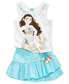 Disney's® 2-Pc. Moana Tank Top & Skirt Set, Little Girls