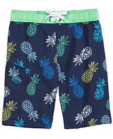 Hawke & Co. Outfitter Pineapple-Print Swim Trunks, Big Boys